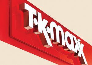 Shopfront signage | T.K. MAXX Signage Supplier