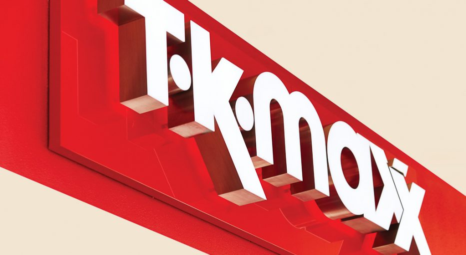 Shopfront signage | T.K. MAXX Signage Supplier